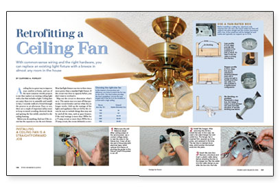 Retrofitting A Ceiling Fan Fine Homebuilding