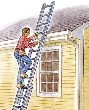 The Right Way To Set Up And Climb A Ladder Fine Homebuilding