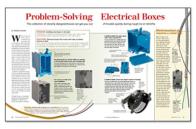 Problem-Solving Electrical Boxes - Fine Homebuilding