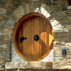 Like the butterfly window the cottageu0027s round 3-inch-thick front door is made of Spanish cedar by cabinetmaker David Thorngate of Newark Del. & Inside the Hobbit House - Fine Homebuilding