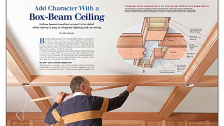 Add Character with a Box Beam Ceiling Fine Homebuilding