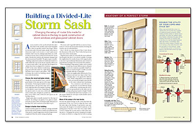 how to build storm windows