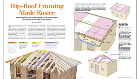 Hip Roof Framing Made Easier Fine Homebuilding