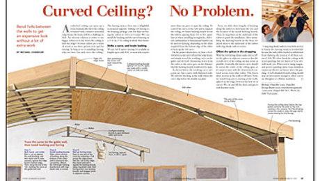 Curved Ceiling No Problem Fine Homebuilding