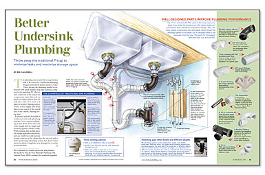 Synopsis: Traditional Undersink Plumbing Layouts Leave Little Room For  Storage And Often Put Pipes At Risk Of Damage From Inadvertent Bumps And  Bangs.