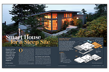 Smart House for a Steep Site - Fine Homebuilding