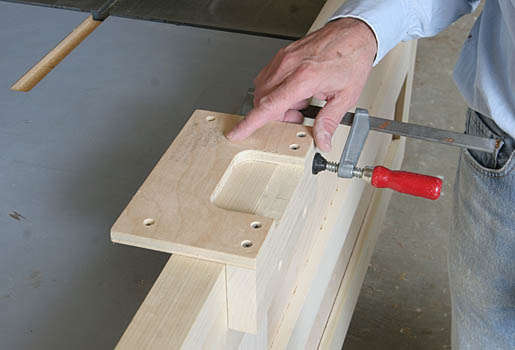 a custom hinge mortising template fine homebuilding