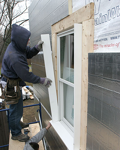 Extension jambs for replacement windows fine homebuilding - Exterior house insulation under siding ...