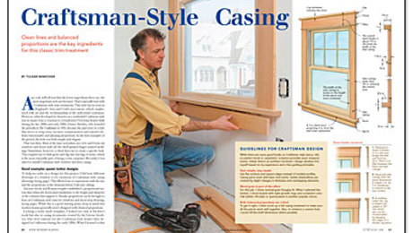 Craftsman Style Casing Fine Homebuilding