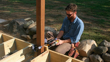 Ultimate Deck Build 2015 Installing Railing Posts For