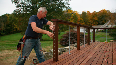 cable deck railing ultimate deck build 2015 cable railings homebuilding 10101