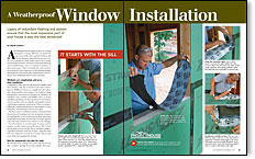 weatherproof window installation