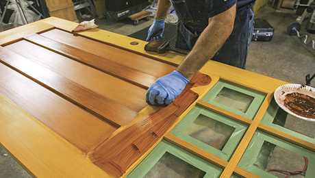 Incroyable Finishing An Exterior Door, Ep. 5: Applying Pigment Stain