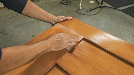 Finishing An Exterior Door, Ep. 6: Sanding And Touch Ups   Fine Homebuilding