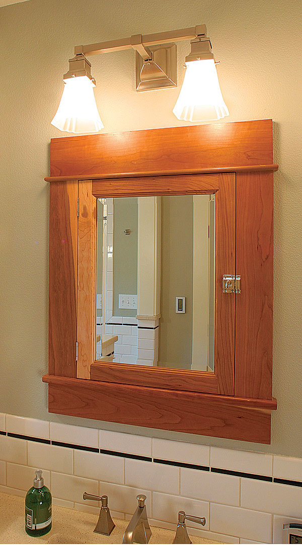 mission style bathroom mirror affordable mail order medicine cabinets homebuilding 19545