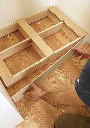 Especially In An Enclosed Space, A Separate Base Makes The Job Of Setting  The Cabinet Much Easier. Once The Base Is Leveled And Attached To The  Floor, ...