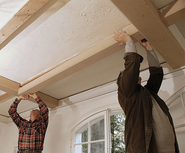 Do It Yourself Home Design: Tips For A Coffered Ceiling