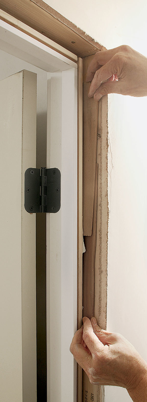 How to install prehung interior door split jamb for How to hang prehung interior door