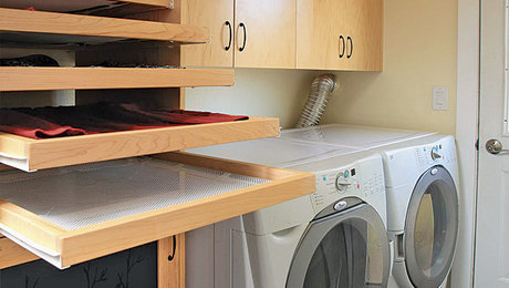 Laundry Room Trifecta Hamper Storage Area And Drying