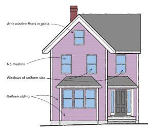 Victorian house windows