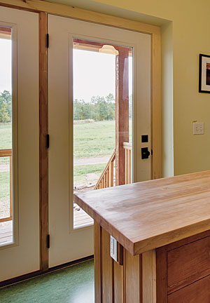 Typical French Doors Have Hinges On The Jamb And Can Open Only  Approximately 105° Before Hitting The Inner Part Of The Double Stud Wall.