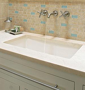 Double Wide Bathroom Sink Home Vanity Undermount