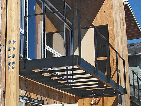 A Balcony From Metalcraft. This Powder Coated Metal Balcony Was  Custom Engineered And Built By Metalcraft. The Metal Brackets Below The  Balcony Are ...