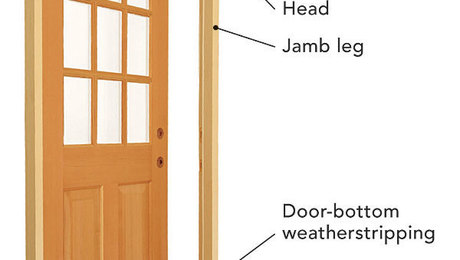 Pre hung doors fine homebuilding for How to install prehung door exterior