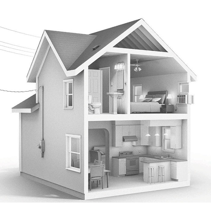 Using An Illustration Of A Typical House, Popejoy Begins Where Electrical  Power Enters From ...