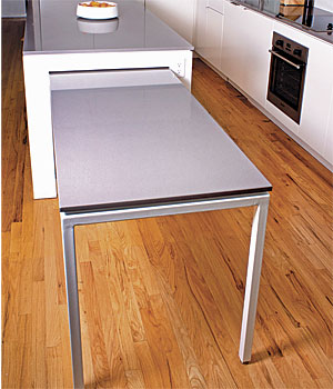 Hideaway Kitchen Table - FineHomeBuilding