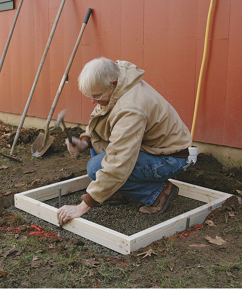 Placing A Small Concrete Slab
