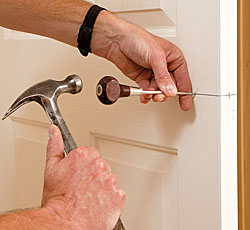 use a scratch awl to punch the precise starting points.