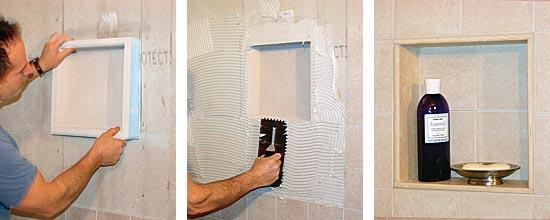 How To Cut A Hole In Ceramic Tile Prefab shower niche - Fine Homebuilding