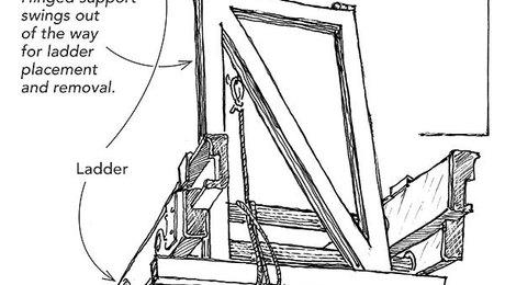 Extension-ladder storage - Fine Homebuilding