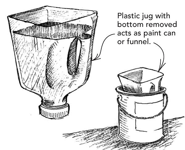 combo paint bucket funnel fine homebuilding