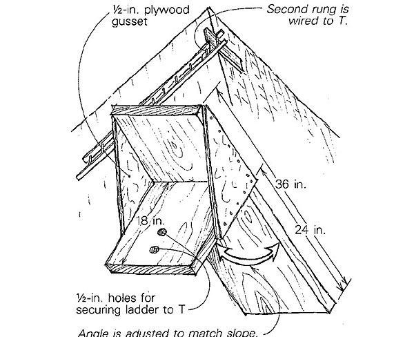 Ridge Hung Ladder