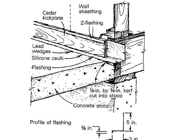 Retro Flashing A Concrete Stoop Fine Homebuilding