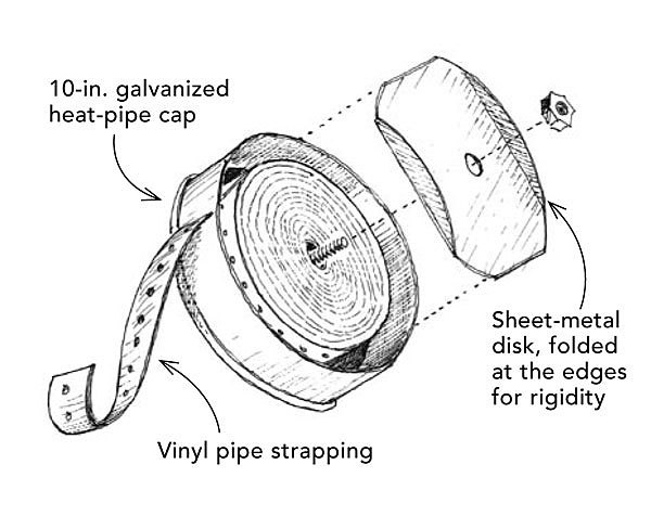 pipe-strapping reel