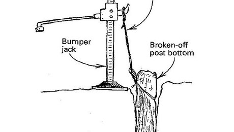 Replacing A Rotten Fence Post Fine Homebuilding