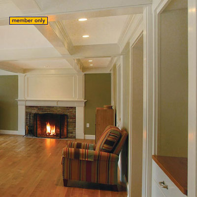 15 coffered ceiling ideas fine homebuilding for Box beam ceiling