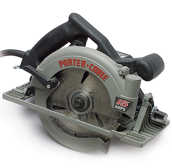 347 circular saw review fine homebuilding this well built circular saw has no fancy features but it does have a strong and flat baseplate made of cast magnesium porter cable puts an odd shape to greentooth Choice Image