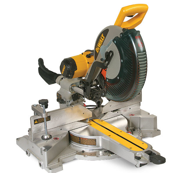 Dw718 12 in sliding compound miter saw review fine homebuilding the dewalt saw is the lightest most compact of the bunch and i found it the easiest to carry this saw is an excellent choice for those who install a lot greentooth Images