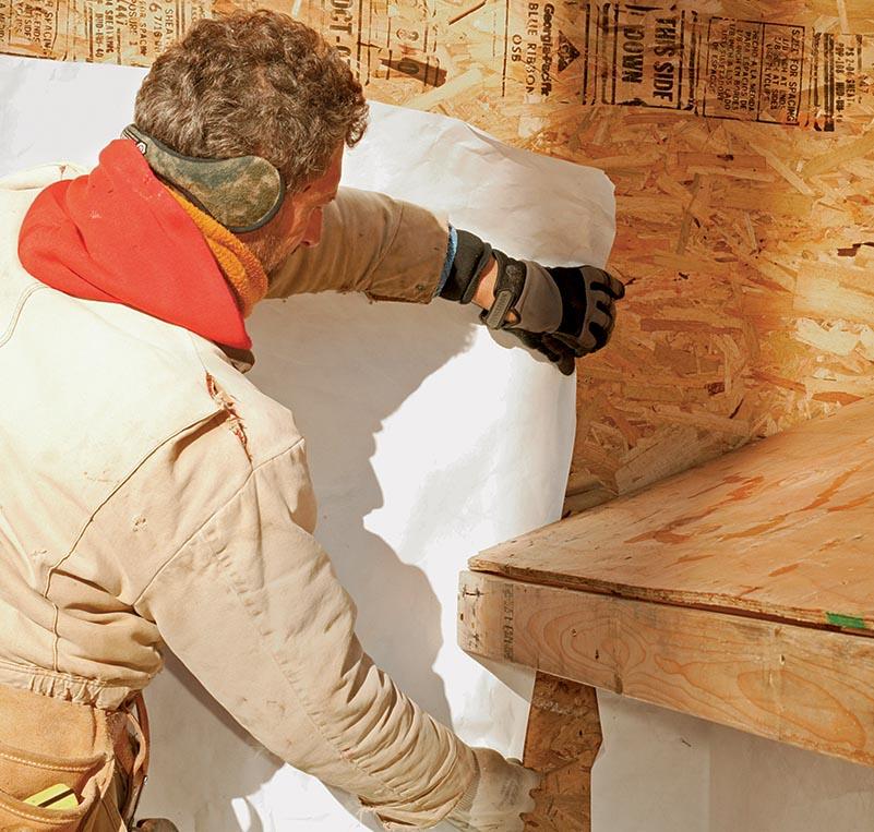 installing housewrap