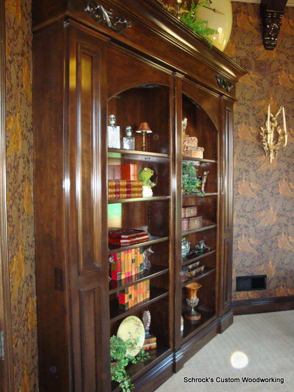 Custom Designed Swinging Bookcase Fine Homebuilding