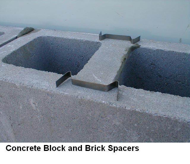 Spacer For Concrete Deck : Building a block wall using joint spacers fine homebuilding