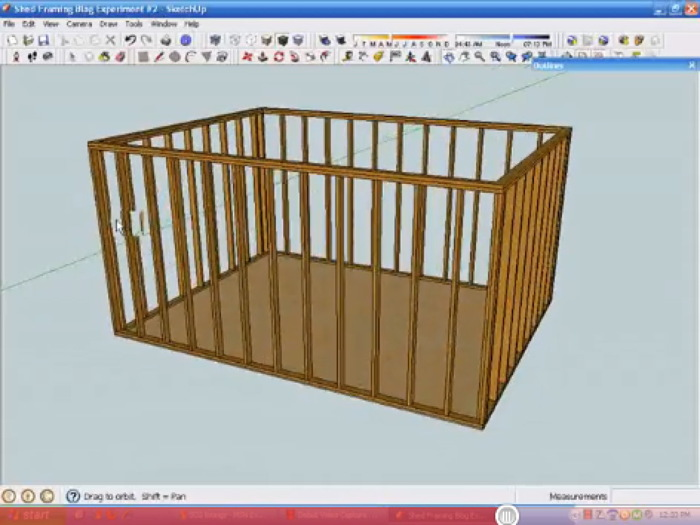 Use sketchup to create a 3d framing model fine homebuilding for House construction app