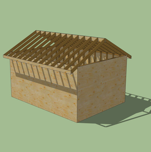 The Rafter You Re After Using Sketchup To Draw Roof