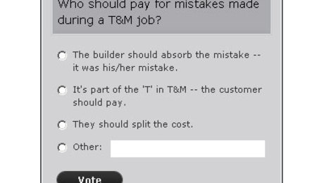 Who Pays for Mistakes in a Time and Materials Contract?