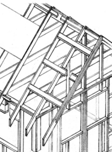 Stiffen the ridge and use real barge rafters
