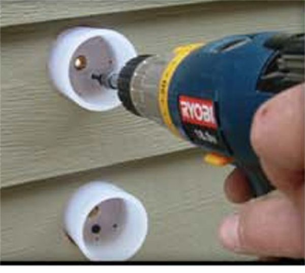 Mounting Attach-A-Deck cups to wall